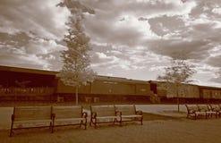 Die alte Immigration-Bahnstation Lizenzfreie Stockfotografie