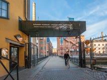 Die alte Industrielandschaft in Norrkoping, Schweden Lizenzfreie Stockbilder