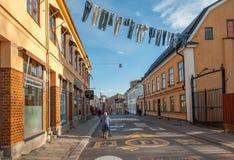 Die alte Industrielandschaft in Norrkoping, Schweden Stockfotos