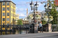 Die alte Industrielandschaft in Norrkoping, Schweden Stockfoto
