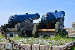 Die alte Kanone die alte Kanone Lizenzfreie Stockfotografie