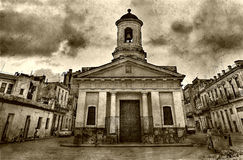Die alte Kirche in altem Havana-3 Stockbilder