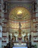 Die alte Kirche Notre Dame in Marseille Lizenzfreie Stockfotos