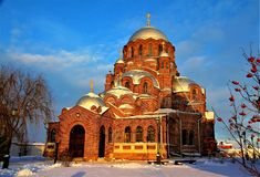Die alte Kirche in Sviyazhsk, Kasan stockfoto
