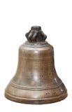 Die alte kupferne Glocke lokalisiert auf weißem Hintergrund Lizenzfreie Stockbilder