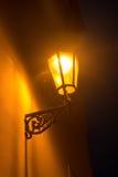 Die alte Laterne in der Nacht Stockfoto