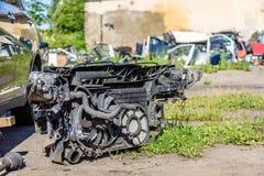 Die alte Maschine eines Autos Internes Design der Maschine Stockfotos