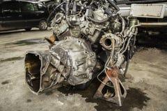 Die alte Maschine eines Autos Internes Design der Maschine Automotor p Stockfotos