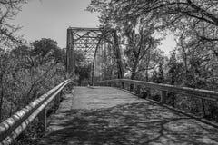 Die alte Maxdale-Brücke in Schwarzweiss Lizenzfreies Stockbild