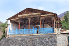 Die alte Moschee in Dorf Ayni (Aini), Tadschikistan Stockfotos