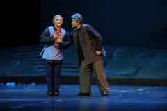 Die alte Paare Jiangxi-Oper eine Laufgewichtswaage Lizenzfreie Stockfotografie
