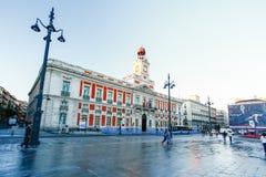 Die alte Post bei Puerta del Sol, Kilometer 0, Madrid, Spanien Stockfoto