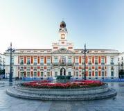Die alte Post bei Puerta del Sol, Kilometer 0, Madrid, Spanien Lizenzfreies Stockfoto