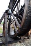 Die alte Pumpe für die Ableitung von Bergwerken Stockbilder