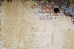 Die alte schmutzige Backsteinmauer Stockbilder