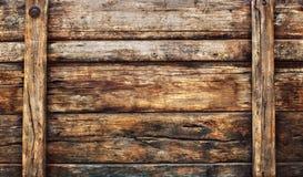 Die alte schmutzige hölzerne breite Platte, die als Schmutz benutzt wurde, maserte Hintergrundba Lizenzfreie Stockfotos