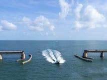Die alte sieben Meilen-Brücke, zu Key West Lizenzfreies Stockbild