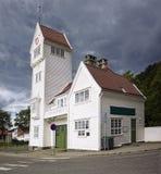 Die alte Skansen Feuerwache in Bergen, Norwegen Lizenzfreies Stockbild