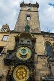 Die alte Stadt Hall Astronomical Clock in Prag in der Tschechischen Republik Lizenzfreies Stockbild