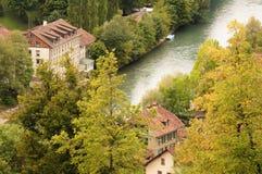 Die alte Stadt ist das mittelalterliche Stadtzentrum von Bern, die Schweiz Lizenzfreies Stockfoto