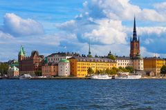 Die alte Stadt in Stockholm, Schweden Lizenzfreies Stockfoto