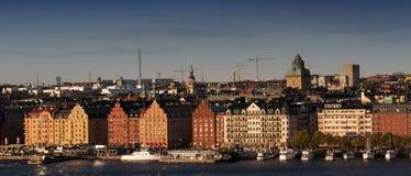 Die alte Stadt in Stockholm, Schweden Lizenzfreie Stockbilder