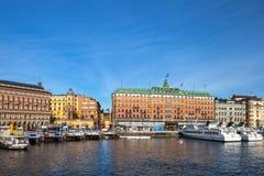 Die alte Stadt in Stockholm, Schweden Stockfotos