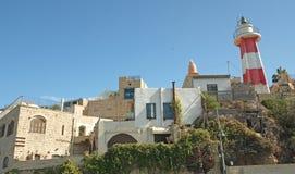 Die alte Stadt und der Leuchtturm Lizenzfreies Stockbild