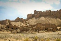 Die alte Stadt von Bam im Süden vom Iran Sand-Stadt stockfotografie