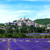 Die alte Stadt von banon, Frankreich Stockfoto