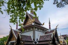 Die alte Stadt von Chiang Mai, von Thailand Wat Chedi Luang u. von x28; Wat Chedi Luang u. x29; Stockbild