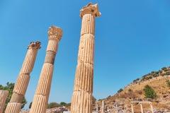 die alte Stadt von ephesus Ungewöhnliche Ruinen in der Türkei nahe dem Fa Stockfotos