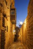 Die alte Stadt von Jaffa nachts, Tel Aviv Lizenzfreie Stockbilder