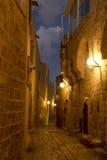 Die alte Stadt von Jaffa nachts, Tel Aviv Stockbild