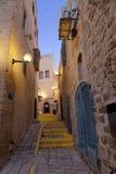 Die alte Stadt von Jaffa nachts, Tel Aviv, Lizenzfreies Stockbild