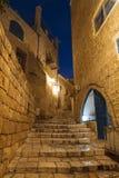 Die alte Stadt von Jaffa nachts, Tel Aviv Stockfotos