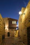 Die alte Stadt von Jaffa nachts, Tel Aviv Lizenzfreie Stockfotografie