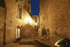 Die alte Stadt von Jaffa nachts, Tel Aviv Lizenzfreies Stockfoto