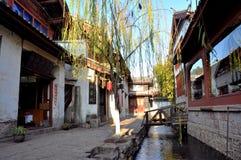 Alte Stadt von Lijiang Stockbild