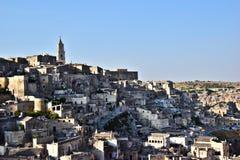Die alte Stadt von Matera Stockfotos