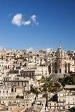 Die alte Stadt von modica Sizilien Stockfotografie