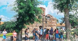 Die alte Stadt von Nesebar ist eine UNESCO stock footage