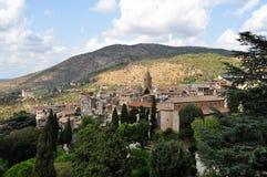 Die alte Stadt von Tivoli gesehen von Landhaus d ` Este rom Lizenzfreies Stockbild