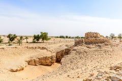 Die alte Stadt von Ubar, Dhofar (Oman) Lizenzfreies Stockfoto