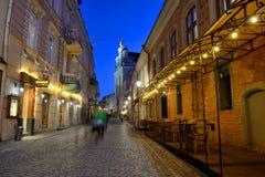 Die alte Stadt von Vilnius Stockfotos