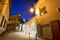 Die alte Stadt von Vilnius Stockbild