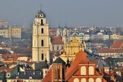Die alte Stadt von Vilnius Stockfoto