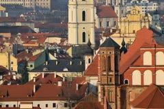 Die alte Stadt von Vilnius Stockbilder