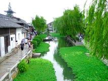 Die alte Stadt von Xitang-Ansicht lizenzfreie stockfotos