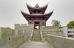 Die alte Stadtmauer in Langzhong Lizenzfreie Stockbilder